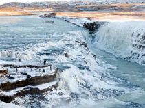 Gullfoss im Winter, Islandreise Nr. 310200