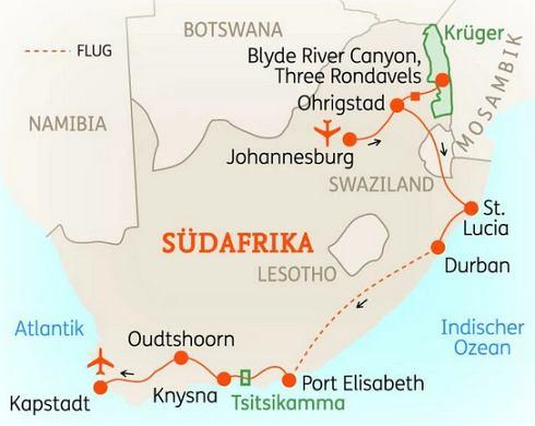 Südafrika Karte Pdf.Abenteuerreise Erlebnisreise Südafrika Abenteuerurlaub Südafrika