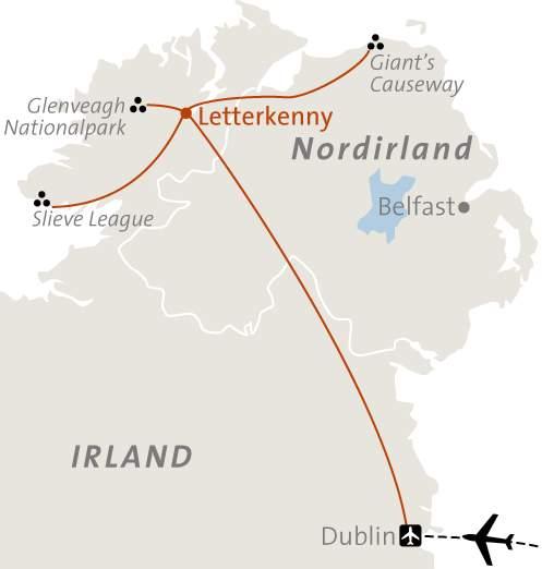 Irland Karte Rundreise.Abenteuerreise Erlebnisreise Irland Abenteuerurlaub Irland