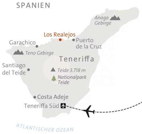 Teneriffa Karte Spanien.Abenteuerreise Erlebnisreise Spanien Abenteuerurlaub Spanien