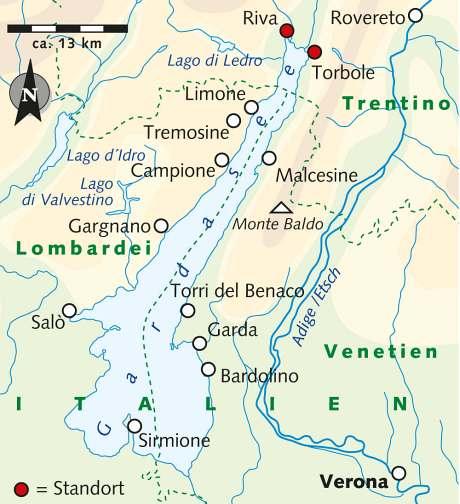 italien karte gardasee Abenteuerreise Erlebnisreise Italien, Abenteuerurlaub Der Gardasee  italien karte gardasee