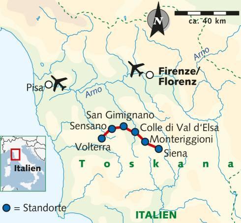 Toskana Karte Italien.Abenteuerreise Erlebnisreise Italien Abenteuerurlaub Toskana