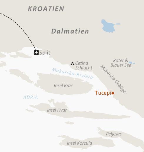 küste kroatien landkarte