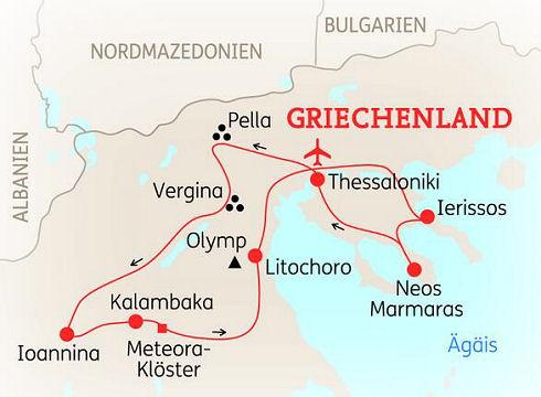 Meteora Klöster Karte.Abenteuerreise Erlebnisreise Griechenland Abenteuerurlaub