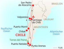 Chile Patagonien Karte.Chile Und Argentinien Reise Abenteuerreise Und