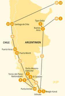 Chile Patagonien Karte.Chile Erlebnisreise Rundreise In Chile Und Argentinien
