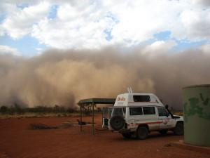 Bushfeuer im Outback