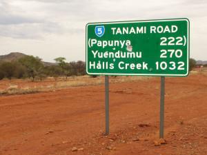 Ziel erreicht nach 1032 Kilometern Tanami Road