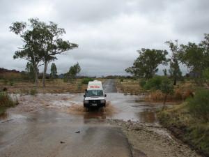 Überschwemmte Straßen