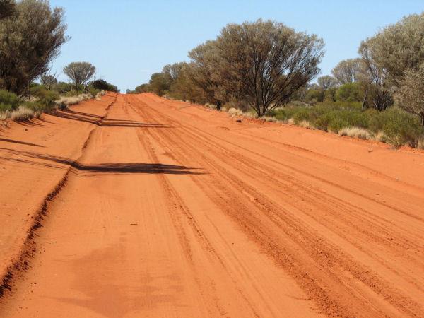 Australien rote Piste