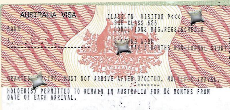 Visum Australien