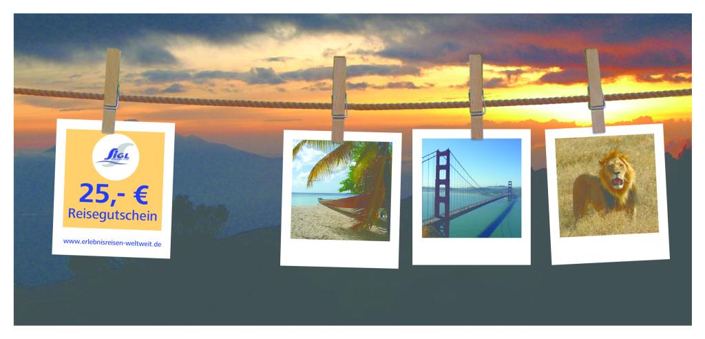 Reisegutschein Erlebnisreisen