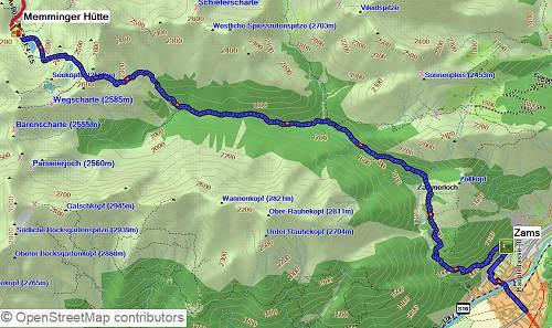 Wanderung von Oberstdorf-Meran auf dem E5
