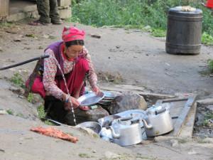 Abspüldienst in Nepal